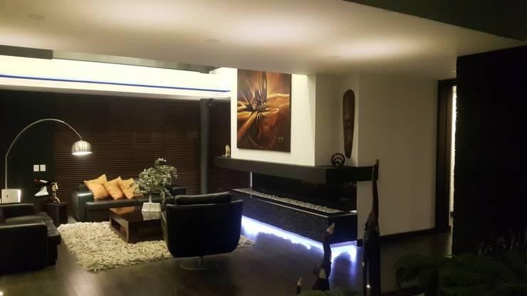 Salas / recibidores de estilo  por Camilo Pulido Arquitectos