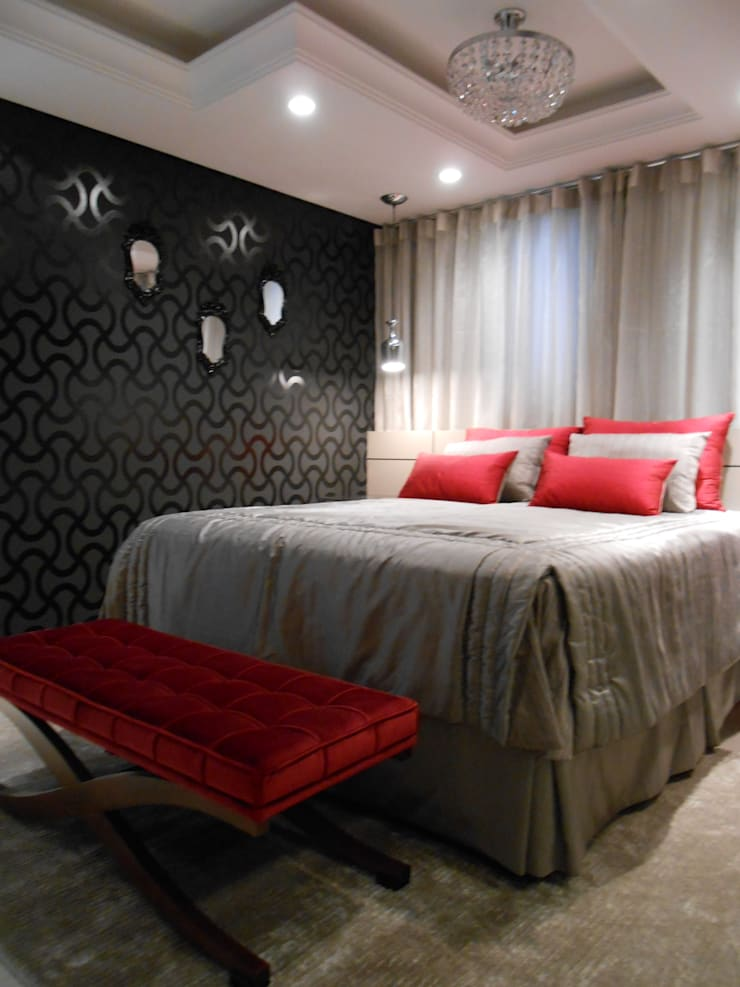 eclectic Bedroom by Mariana Von Kruger Emme Interiores