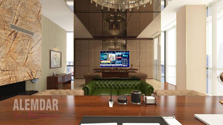 elif alemdar interior – Makam Odası:  tarz Çalışma Odası, Eklektik