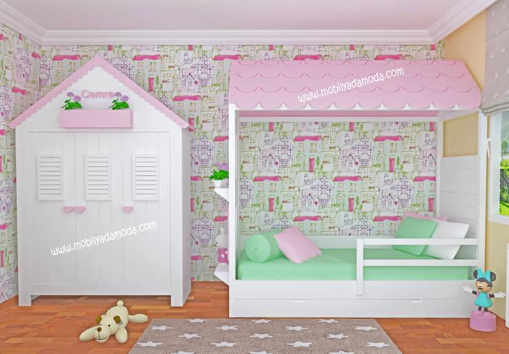 MOBİLYADA MODA  – Montessori Ev Konseptli Çocuk Odası, Cemre'nin Odası :  tarz Çocuk Odası, Modern Ahşap Ahşap rengi