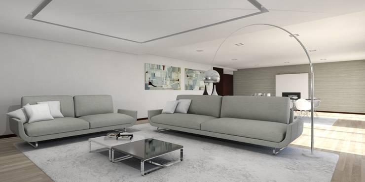 Moradia – Vila Verde: Salas de estar  por Equevo - Interiores Design