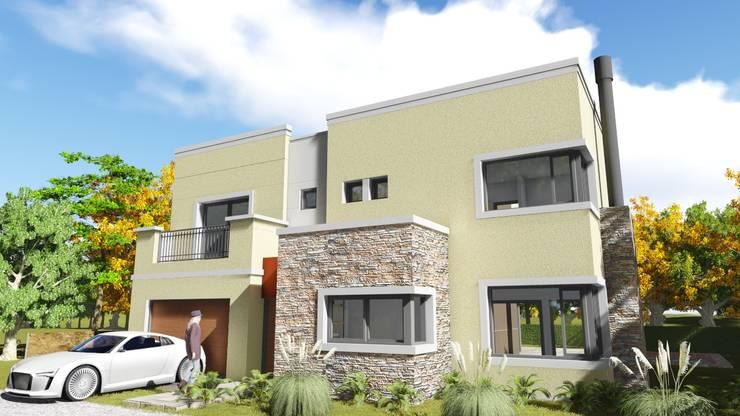 Ayres de Santa Monica: Casas de estilo  por Estudio de arquitectura MSM  (Mar del Plata+Balcarce+Tandil)