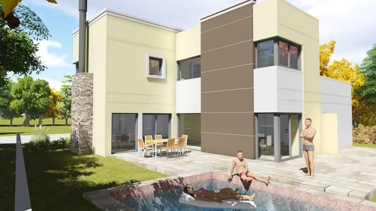 barrio Ayres de Santa Monica: Casas de estilo  por Estudio de arquitectura MSM  (Mar del Plata+Balcarce+Tandil)
