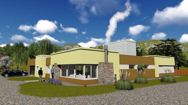 casa _autodromo Juan Manuel Fangio: Casas de estilo  por Estudio de arquitectura MSM  (Mar del Plata+Balcarce+Tandil),