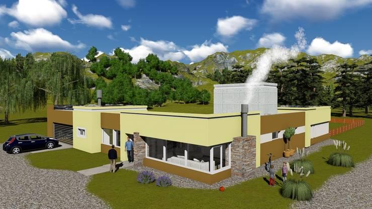 Balcarce_autódromo Juan Manuel Fangio: Casas de estilo  por Estudio de arquitectura MSM  (Mar del Plata+Balcarce+Tandil),