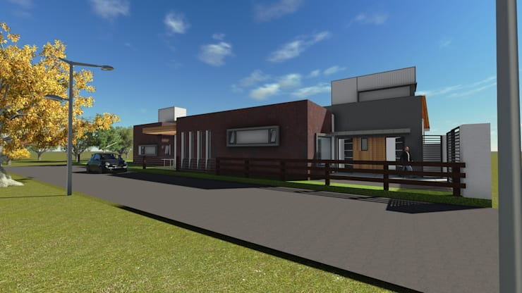Casa para artista y arquitecto: Casas de estilo  por Estudio de arquitectura MSM  (Mar del Plata+Balcarce+Tandil)