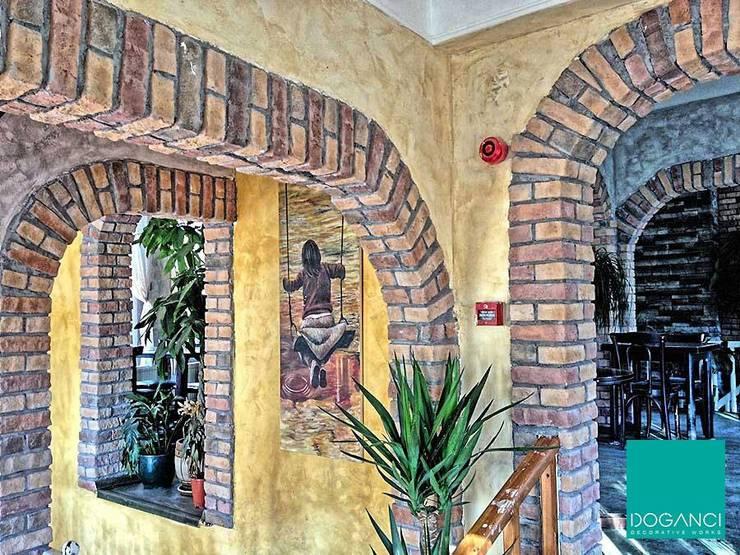 Doğancı Dış Ticaret Ltd. Şti. – Beyrut Cafe:  tarz Duvarlar, Kırsal/Country Tuğla