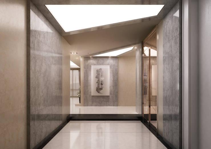 서면 센트럴스타: 보운디자인의  복도 & 현관