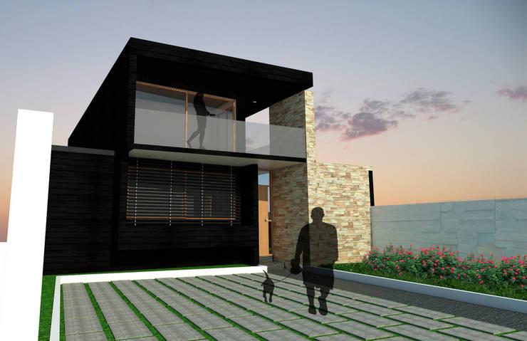 ENTRADA Y FACHADA: Casas de estilo  por Gen Arquitectura & Diseño