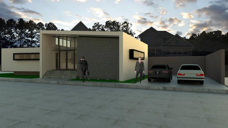 FACHADA ACCESO : Oficinas y Comercios de estilo  por Gen Arquitectura & Diseño