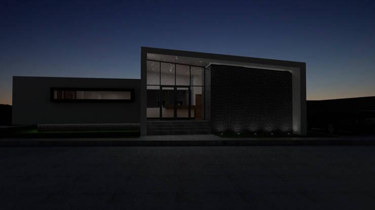 VISTA NOCTURNA: Oficinas y Comercios de estilo  por Gen Arquitectura & Diseño