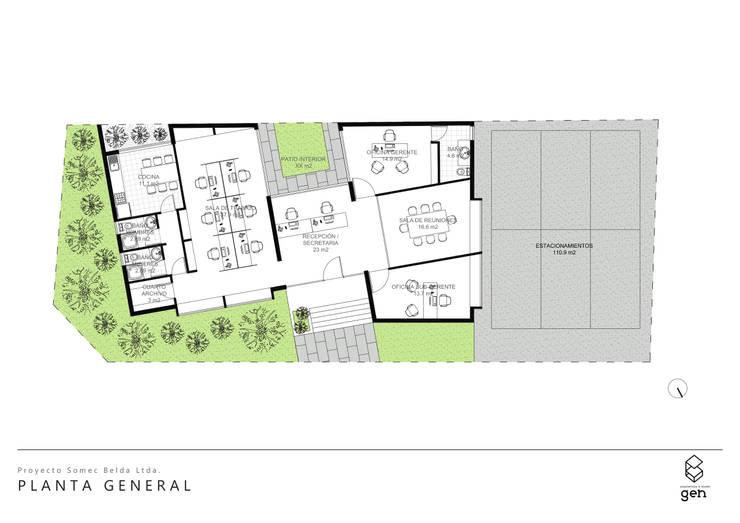 PLANTA ARQUITECTURA:  de estilo  por Gen Arquitectura & Diseño