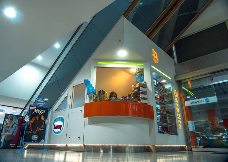 VISTA PERSPECTIVA: Oficinas y tiendas de estilo  por Gen Arquitectura & Diseño