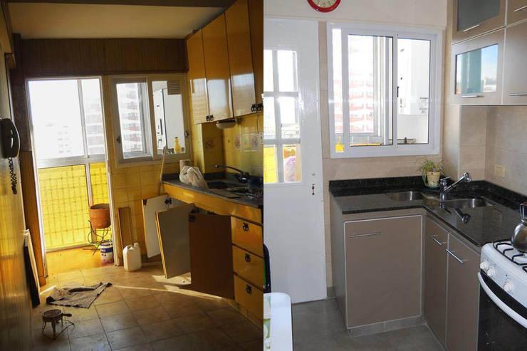 Cocinas de estilo moderno por AyC Arquitectura