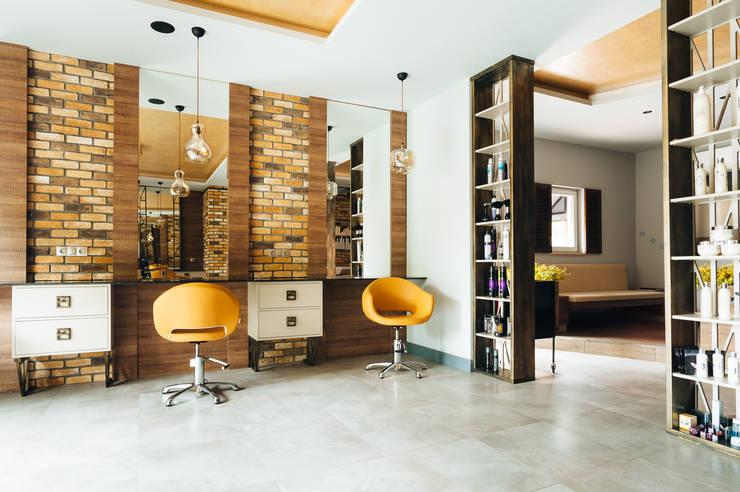 Bilgece Tasarım – M. Bella Kuaför:  tarz Ofisler ve Mağazalar, Modern