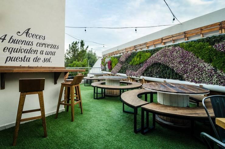 Muro verde natural: Jardines de estilo  por Arquitectura Orgánica Viviana Font