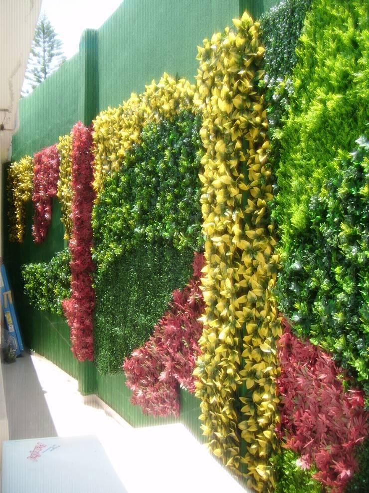 Consultorio medico: Jardines de estilo  por Arquitectura Orgánica Viviana Font