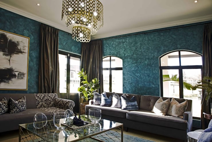 Projekty,  Salon zaprojektowane przez House of Decor