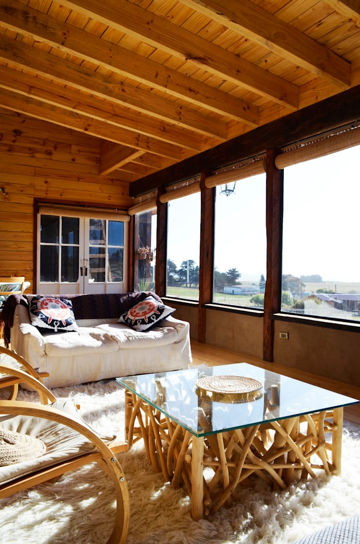CASA AF: Livings de estilo  por BLAC arquitectos