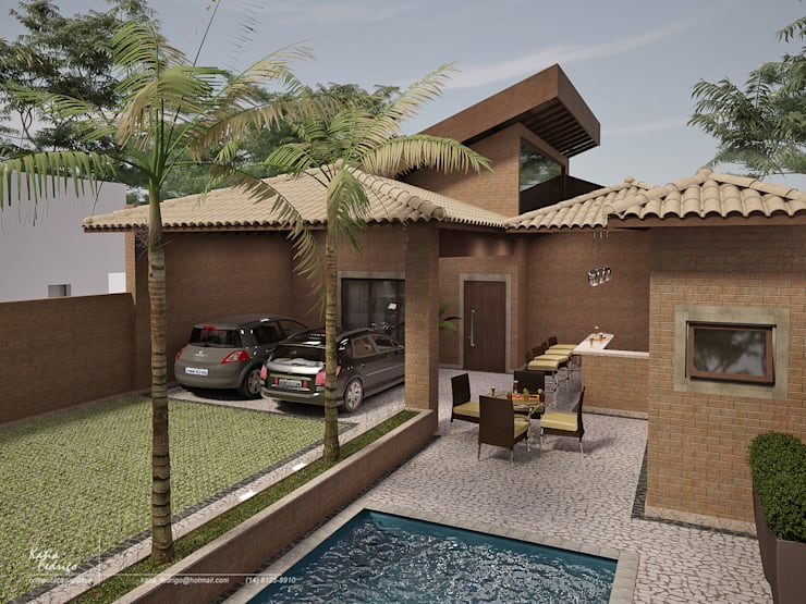 rustic Houses by Santos e Delgado Arquitetura e Construções