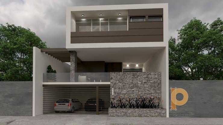 Dise os de casas modernas ejemplos y caracter sticas - Fachadas viviendas unifamiliares ...