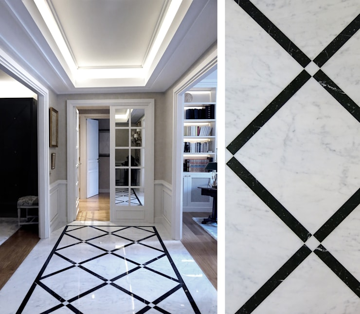 Pasillos y recibidores de estilo  por Gil Mamann
