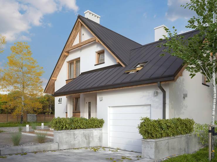 Wizualizacja projektu domu Sopran: styl , w kategorii Domy zaprojektowany przez Biuro Projektów MTM Styl - domywstylu.pl