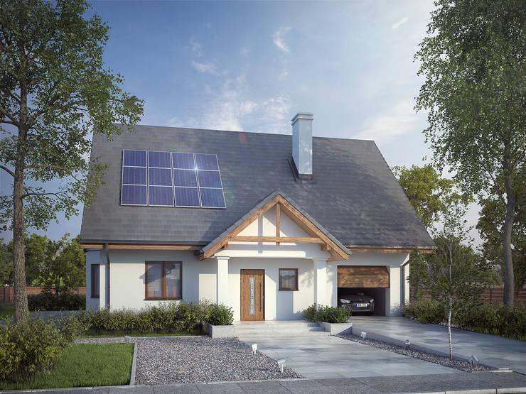 Wizualizacja projektu domu Goździk: styl , w kategorii Domy zaprojektowany przez Biuro Projektów MTM Styl - domywstylu.pl