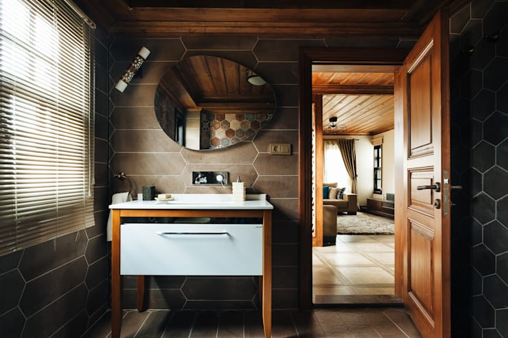 Bilgece Tasarım – Aslı& Şamil Keser konut :  tarz Banyo, Modern