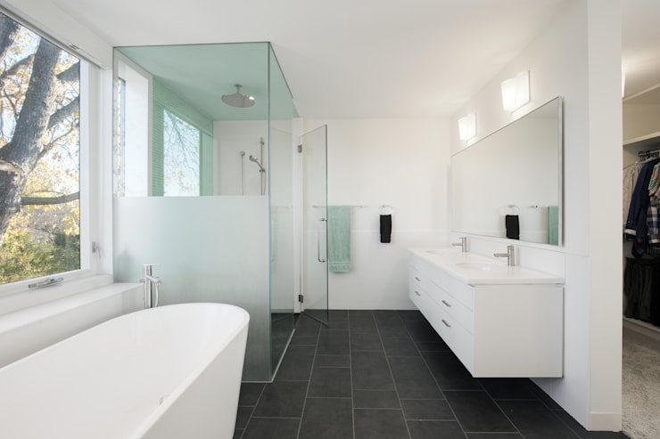 minimalistic Bathroom by dpai architecture inc