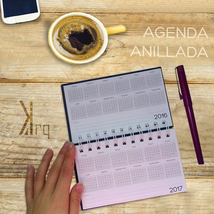 Agenda anillada de 15*9cm: Arte de estilo  por Katherine Aguilar