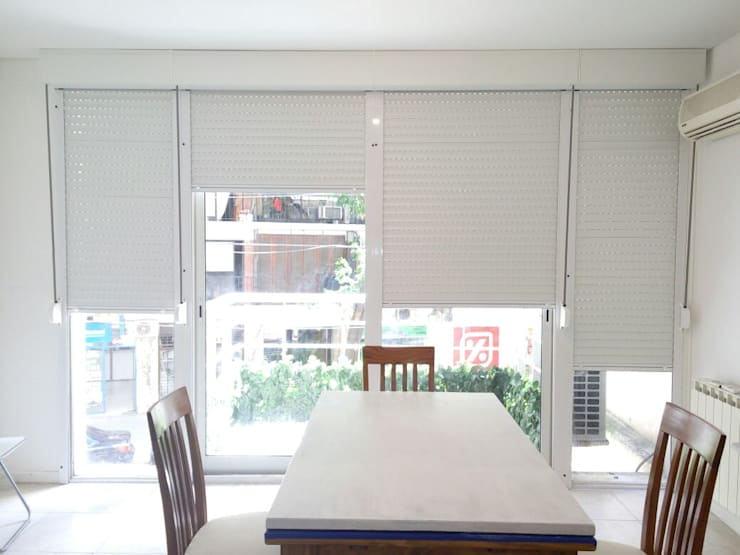 Adaptación de persianas!!!!!!:  de estilo  por Cortinas Cabildo. Persianas y ventanas          011-4781-4022   15-3567-6716