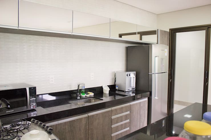 Residência Baes: Cozinhas  por Pz arquitetura e engenharia