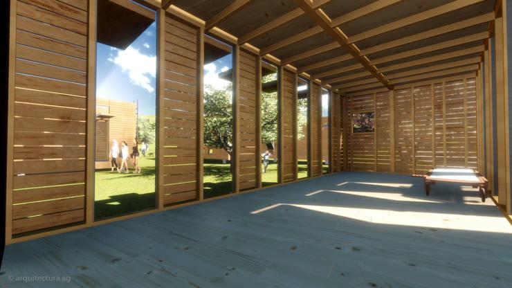 VIVIENDA ABATIBLE SUSTENTABLE: Salas de estilo  por Arquitectura AG