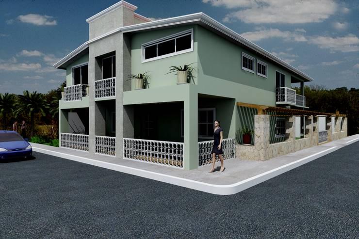 Casa residencial Casas eclécticas de M4X Ecléctico Concreto reforzado