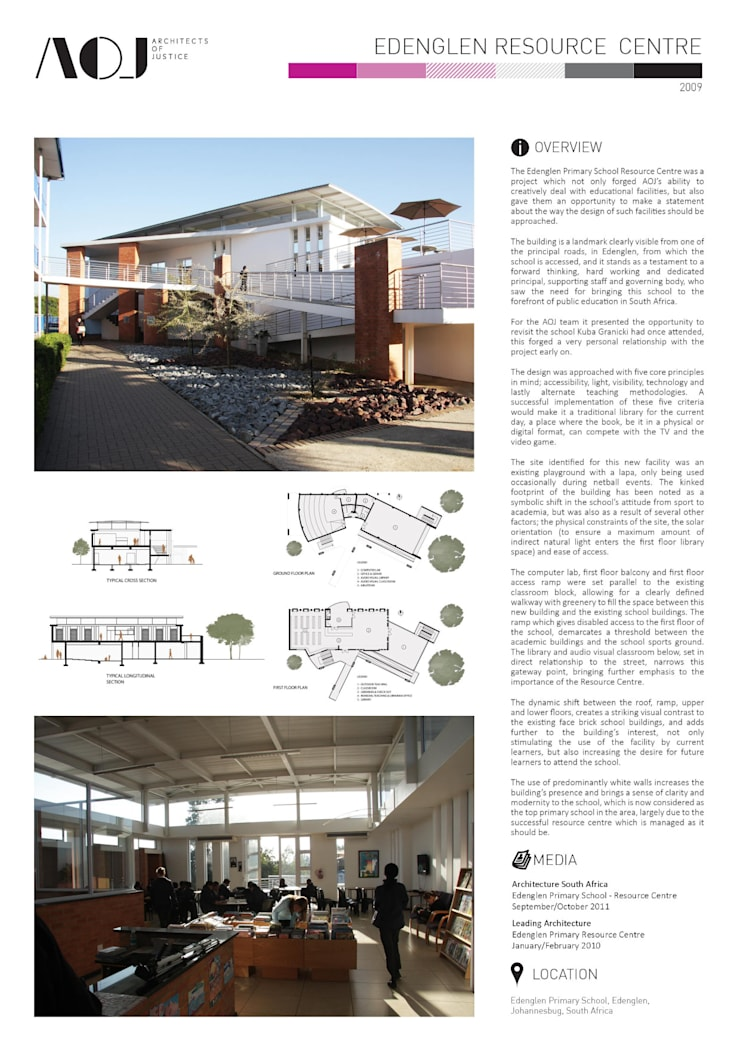 EDENGLEN PRIMARY RESOURCE CENTRE: modern  by Architects Of Justice, Modern