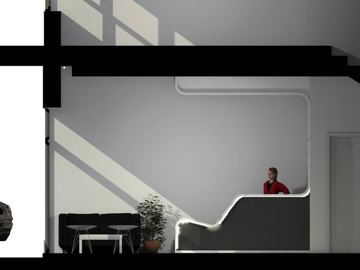 Recepção Empresa de Calçado: Escritórios e Espaços de trabalho  por Traço M - Arquitectura