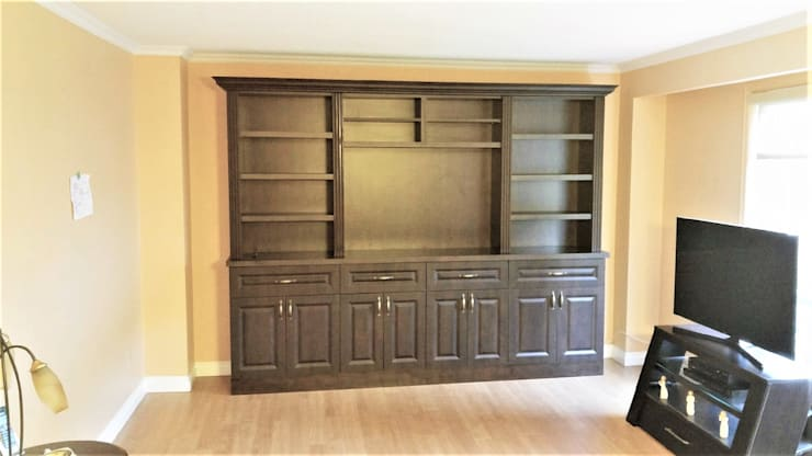Ruggeri - November 9 2016:  Living room by Space Age Custom Closets & Cabinetry