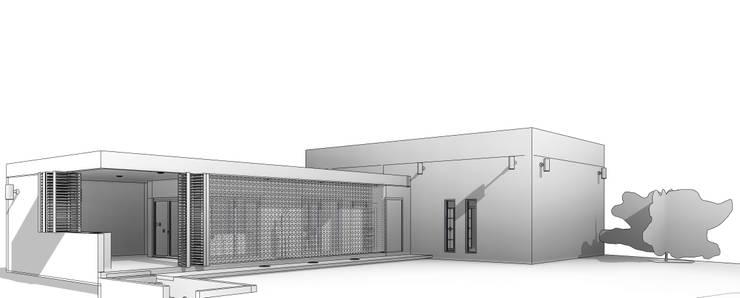 Perspectiva 3D: Casas de estilo  por Miro Arquitectura y Diseño