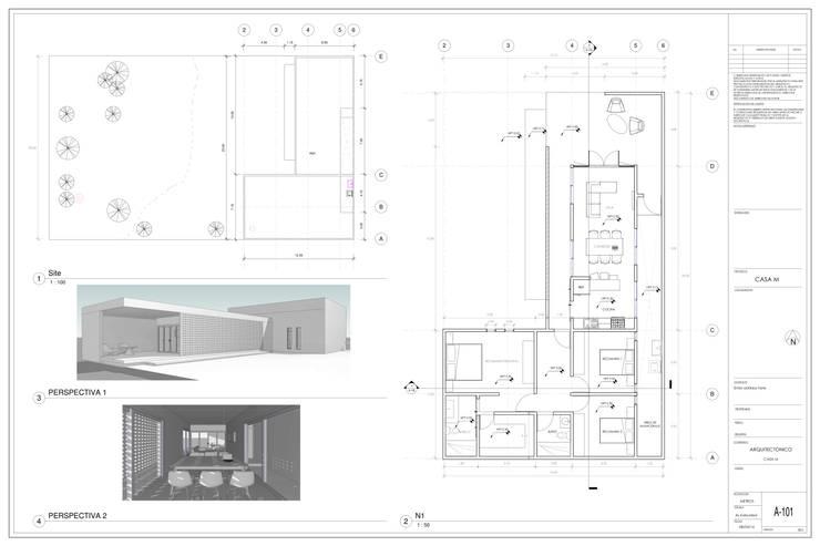 Planta Arquitectonica: Casas de estilo  por Miro Arquitectura y Diseño
