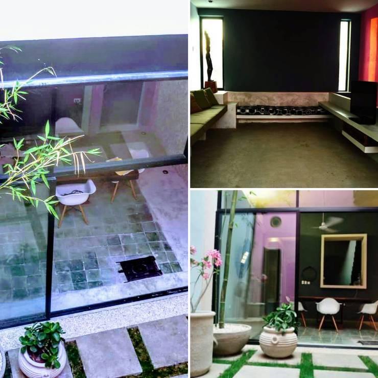 Proyecto casa calle 70 x 51 Barrio de Santiago: Casas de estilo  por Maya Arquitectura Construccion