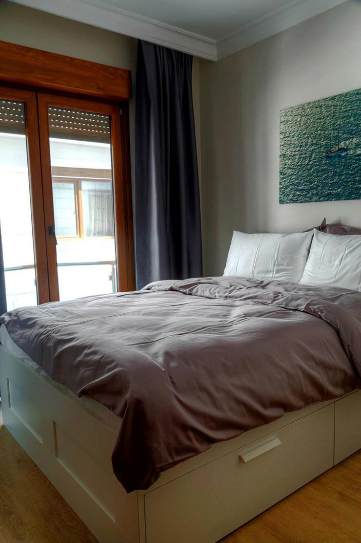 Mandalin Dizayn – Nişantaşı Kıvanç Sokak 2+1 Daire Projesi:  tarz Oturma Odası, Modern