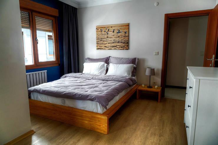 Mandalin Dizayn – Nişantaşı Kıvanç Sokak 2+1 Daire Projesi: modern tarz Yatak Odası