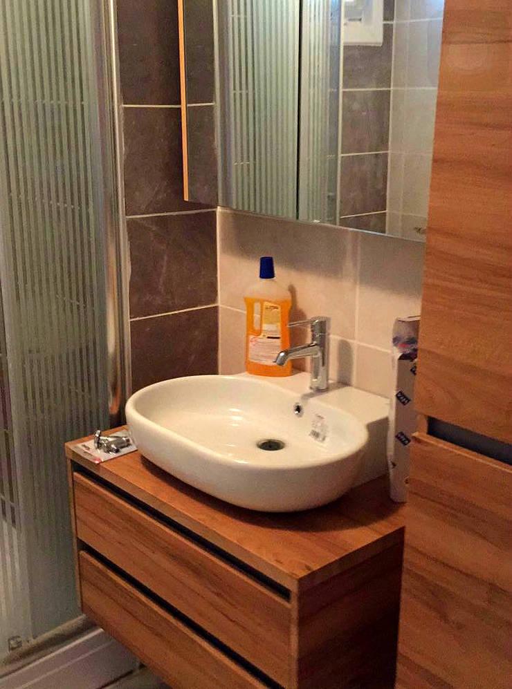Mandalin Dizayn – Kuzguncuk Yuvam Apt. Komple Tadilat Projesi:  tarz Banyo, Modern