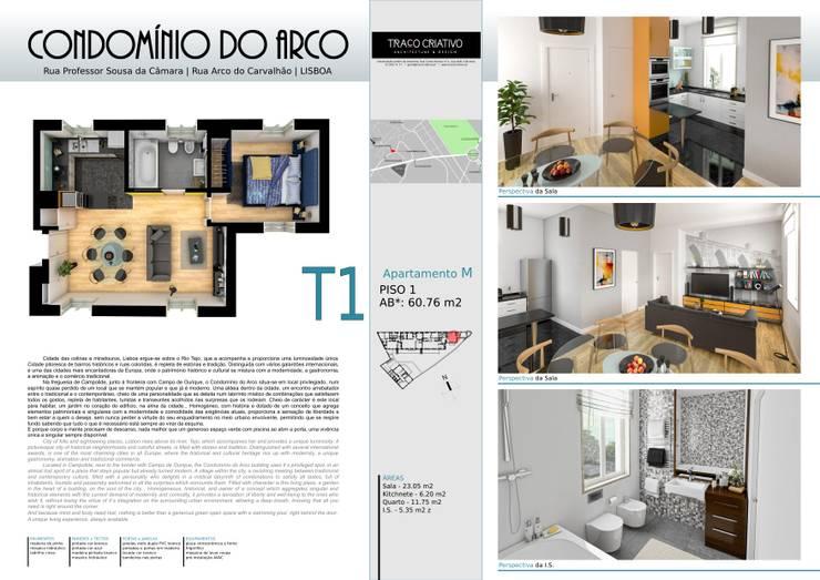 Condominio do Arco - Lisboa: Casa  por Traço Criativo, Arquitetura, Planeamento e Design, Lda