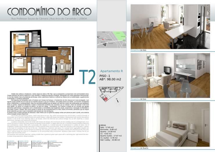 Condominio habitacional: Casa  por Traço Criativo, Arquitetura, Planeamento e Design, Lda