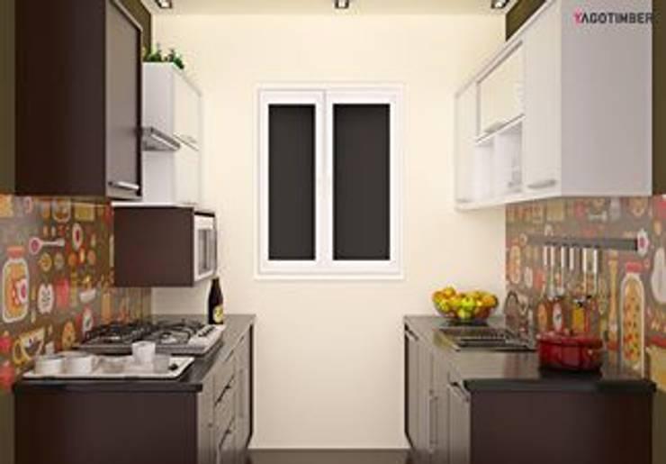 Yagotimber's Modular Kitchen Design  2:  Living room by Yagotimber.com