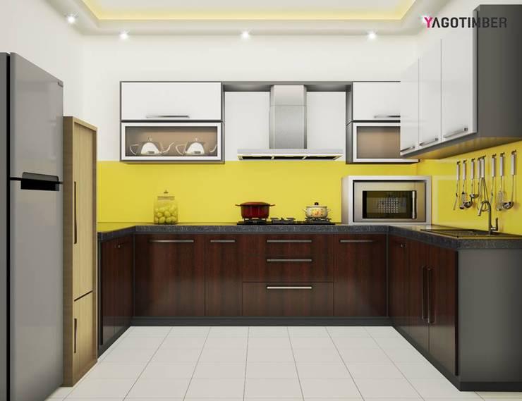 Yagotimber's Modular Kitchen Design  3:  Kitchen by Yagotimber.com