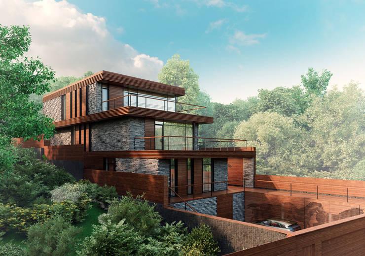 FLYING house / Частный дом в МО на берегу водохранилища: Дома в . Автор – BOOS architects