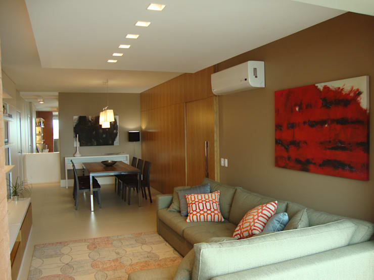 Estar e Jantar: Salas de estar modernas por Geraldo Brognoli Ludwich Arquitetura